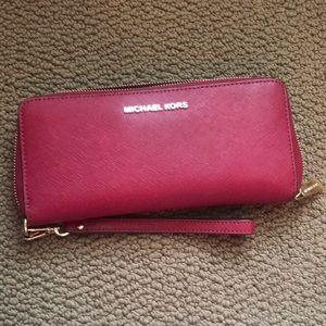 Michael Kors Saffiano Leather wristlet/wallet